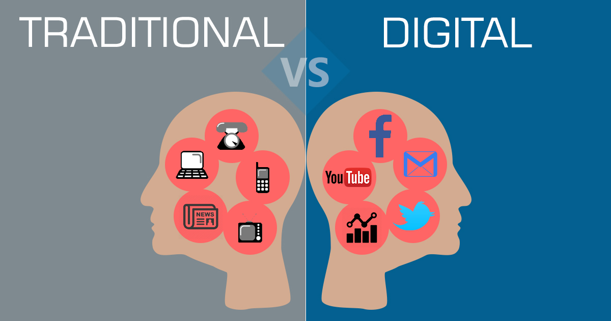 Difference Between Traditional and Digital Marketing